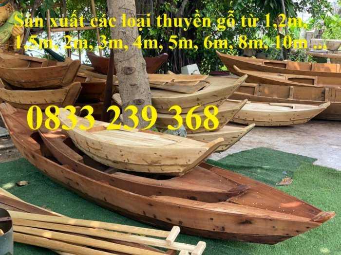 Thuyền gỗ 3m trang trí, Thuyền bày hải sản, Thuyền chụp ảnh2
