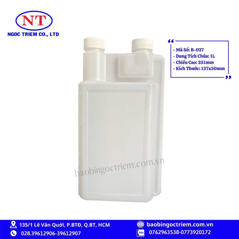 Bình Nhựa HDPE 1lít B-027 - BAO BÌ NGỌC TRIÊM0