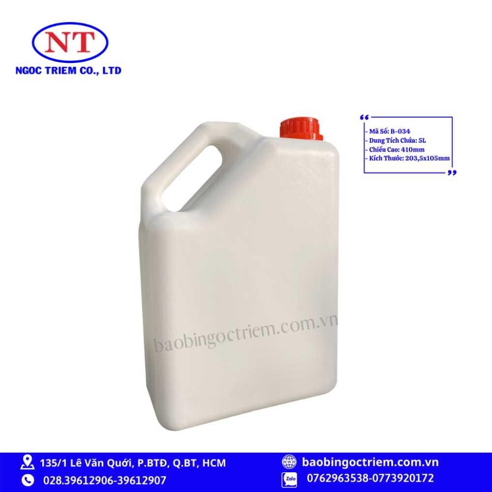 Can Nhựa HDPE 5lít B-034 - BAO BÌ NGỌC TRIÊM1