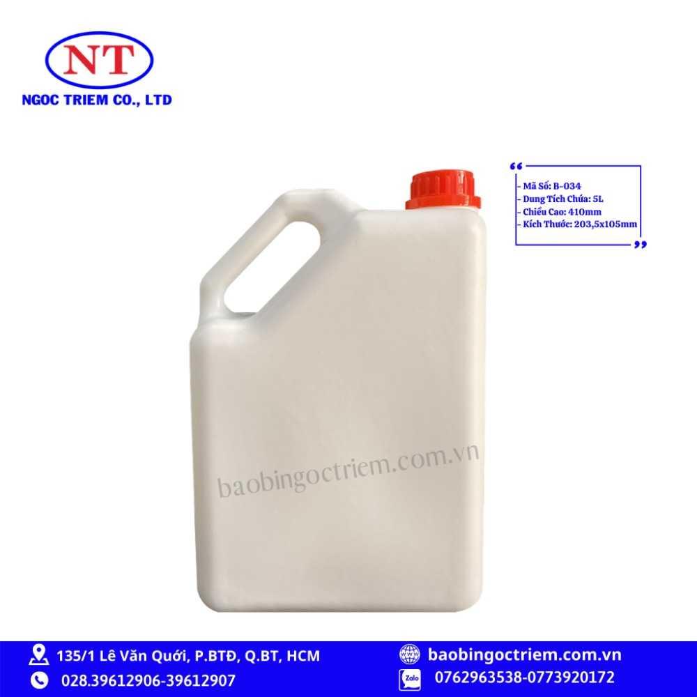 Can Nhựa HDPE 5lít B-034 - BAO BÌ NGỌC TRIÊM0