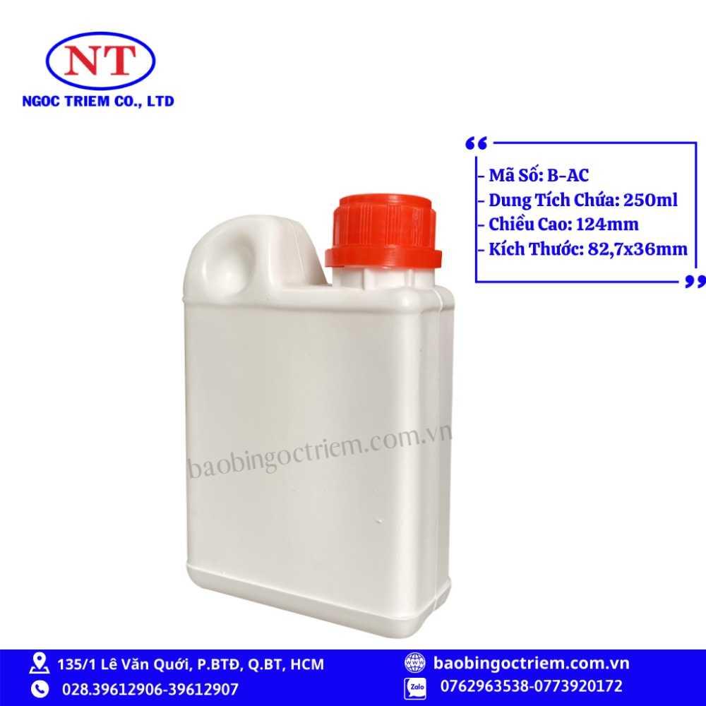 Bình Nhựa HDPE 250ml B-AC - BAO BÌ NGỌC TRIÊM1