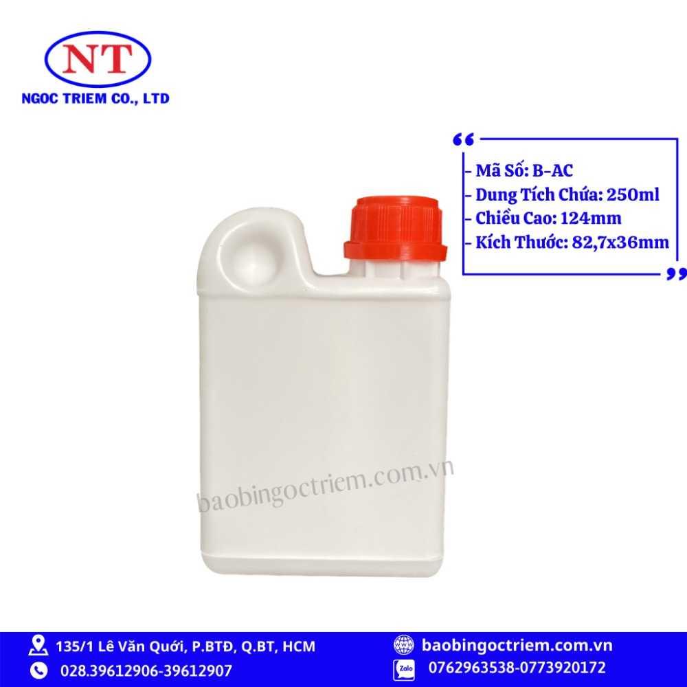 Bình Nhựa HDPE 250ml B-AC - BAO BÌ NGỌC TRIÊM0