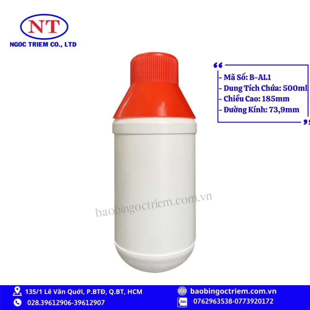 Bình Nhựa HDPE 500ml B-AL1 - BAO BÌ NGỌC TRIÊM0