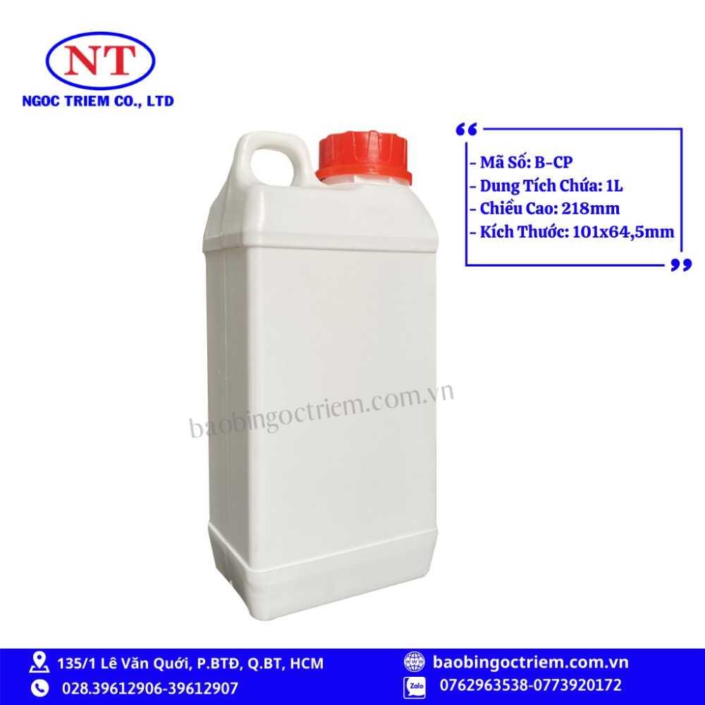 Can Nhựa HDPE 1lít B-CP - BAO BÌ NGỌC TRIÊM1