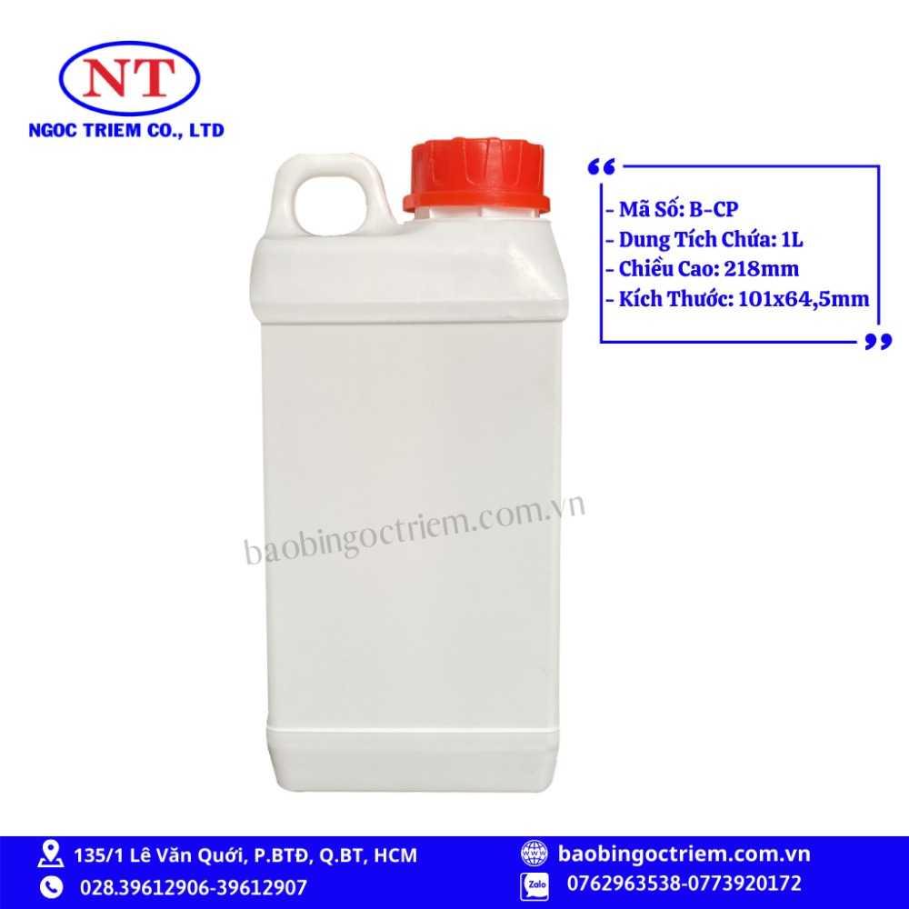 Can Nhựa HDPE 1lít B-CP - BAO BÌ NGỌC TRIÊM0