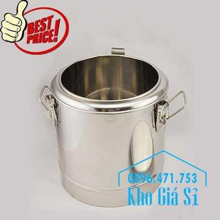 Cung cấp thùng inox 2 lớp giữ nhiệt 20 lít đựng cơm canh nóng23