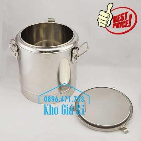 Cung cấp thùng inox 2 lớp giữ nhiệt 20 lít đựng cơm canh nóng22