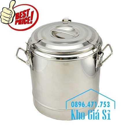 Cung cấp thùng inox 2 lớp giữ nhiệt 20 lít đựng cơm canh nóng21