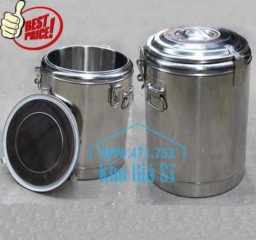 Cung cấp thùng inox 2 lớp giữ nhiệt 20 lít đựng cơm canh nóng13