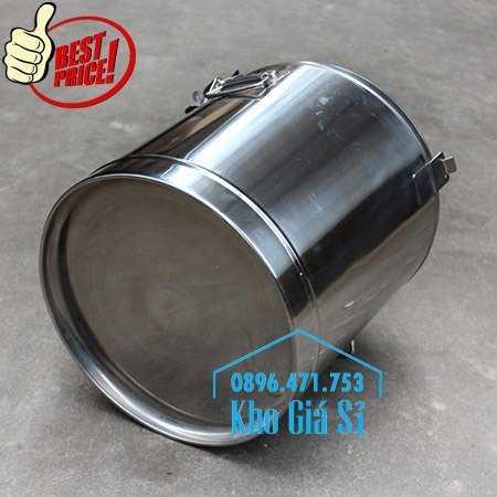 Cung cấp thùng inox 2 lớp giữ nhiệt 20 lít đựng cơm canh nóng12