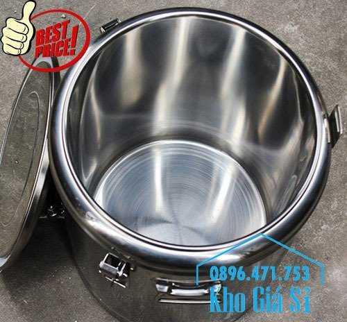 Cung cấp thùng inox 2 lớp giữ nhiệt 20 lít đựng cơm canh nóng11