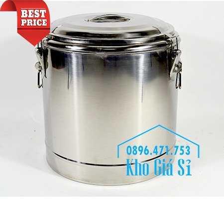 Cung cấp thùng inox 2 lớp giữ nhiệt 20 lít đựng cơm canh nóng7