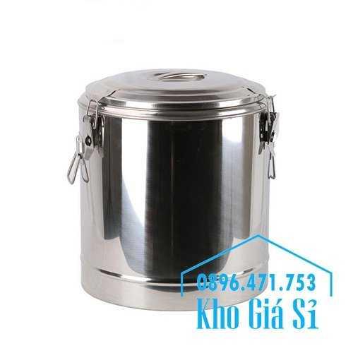 Cung cấp thùng inox 2 lớp giữ nhiệt 20 lít đựng cơm canh nóng4
