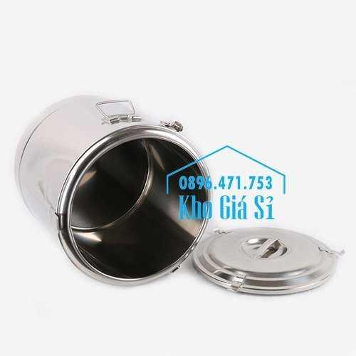 Cung cấp thùng inox 2 lớp giữ nhiệt 20 lít đựng cơm canh nóng3