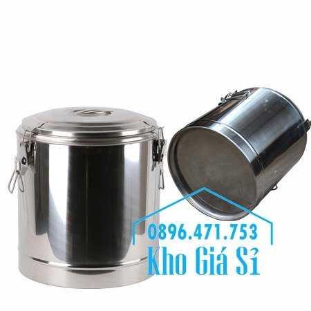 Cung cấp thùng inox 2 lớp giữ nhiệt 20 lít đựng cơm canh nóng1