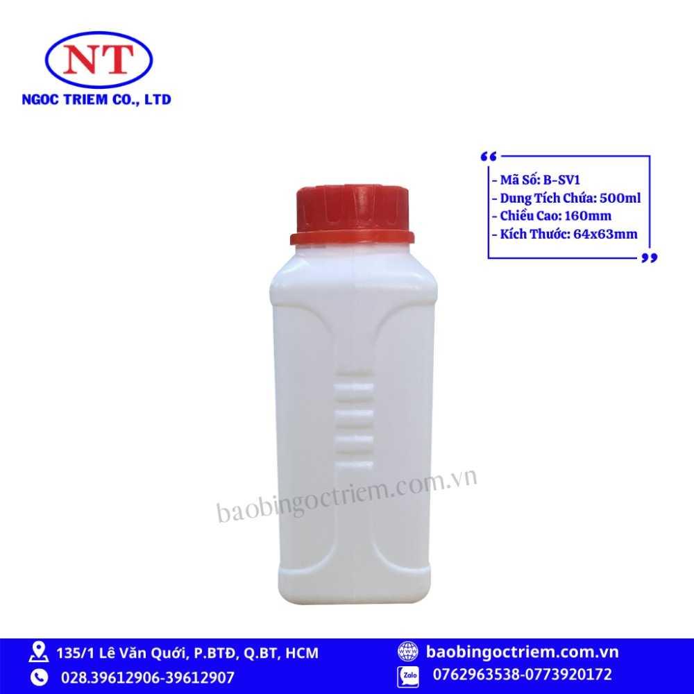 Bình Nhựa HDPE 500ml B-SV1 - BAO BÌ NGỌC TRIÊM0