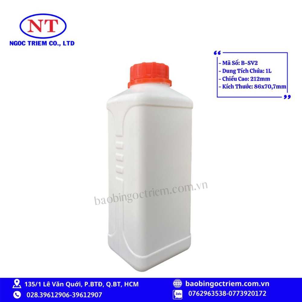 Bình Nhựa HDPE 1lít B-SV2 - BAO BÌ NGỌC TRIÊM0