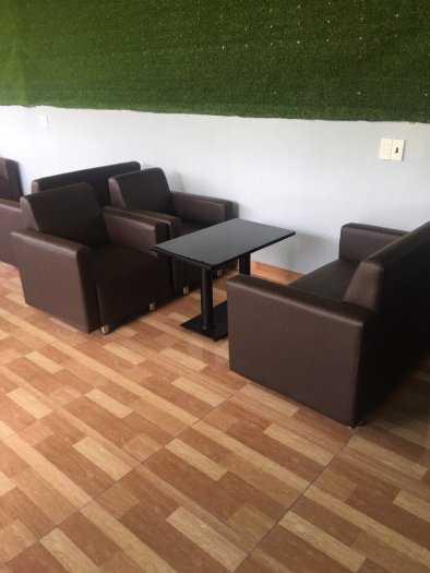 Ghế sofa nệm mặt da giá rẻ nhất HGH1110