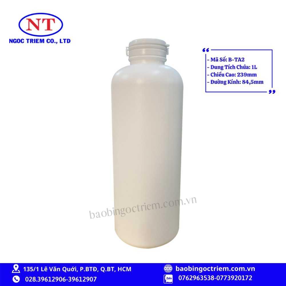 Bình Nhựa HDPE 1lít B-TA2 - BAO BÌ NGỌC TRIÊM0