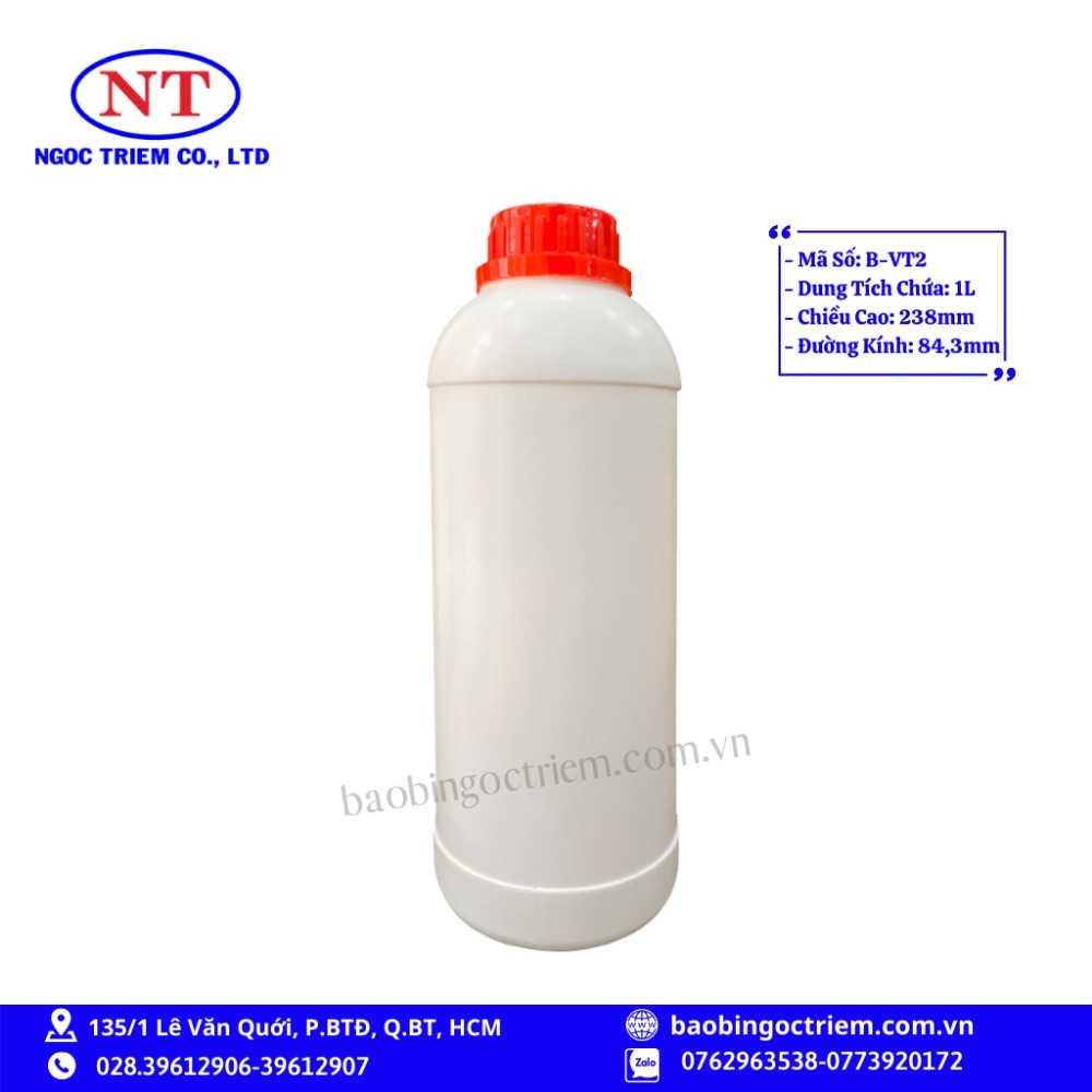 Bình Nhựa HDPE 1lít B-VT2 - BAO BÌ NGỌC TRIÊM0