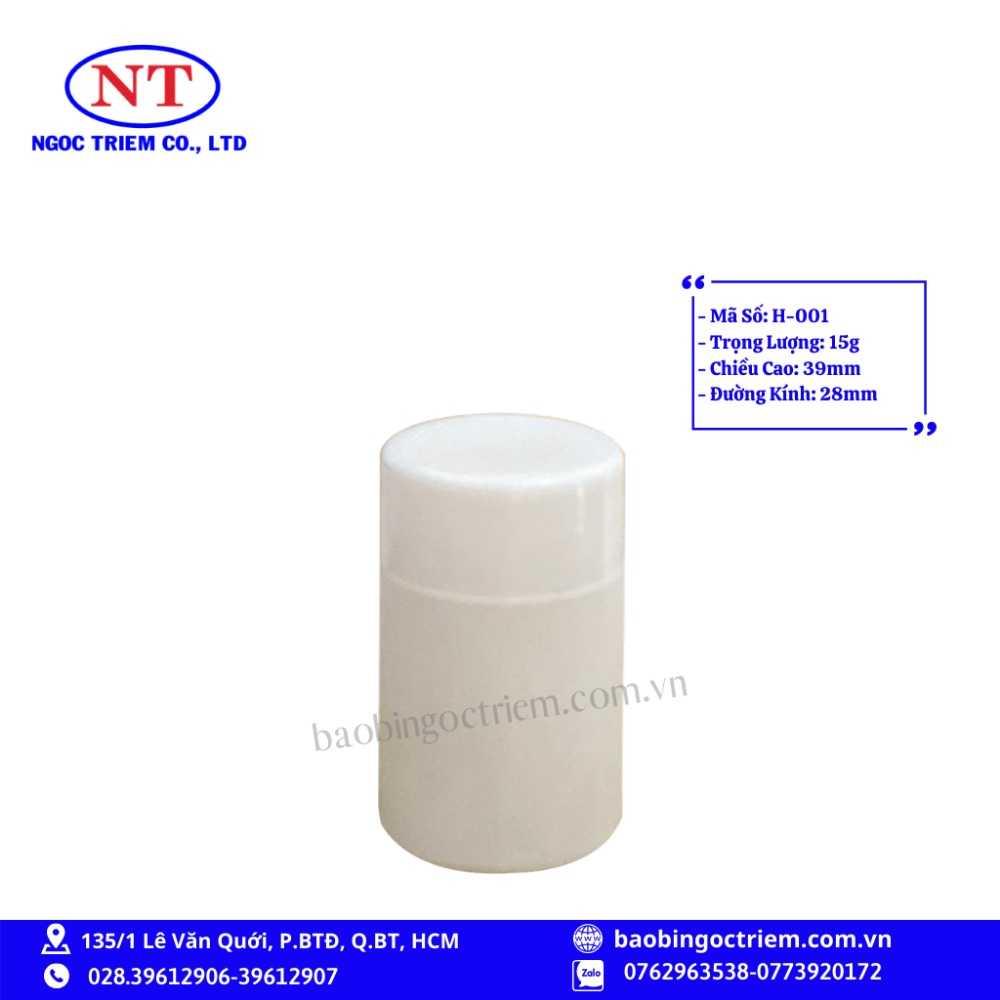 Hủ Nhựa HDPE 15g H-001 - BAO BÌ NGỌC TRIÊM0