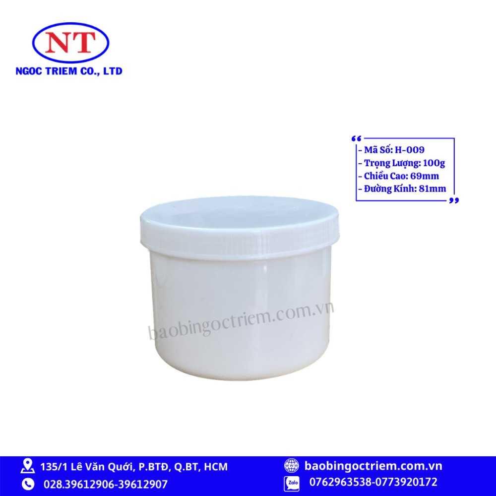 Hủ Nhựa HDPE 100g H-009 - BAO BÌ NGỌC TRIÊM0