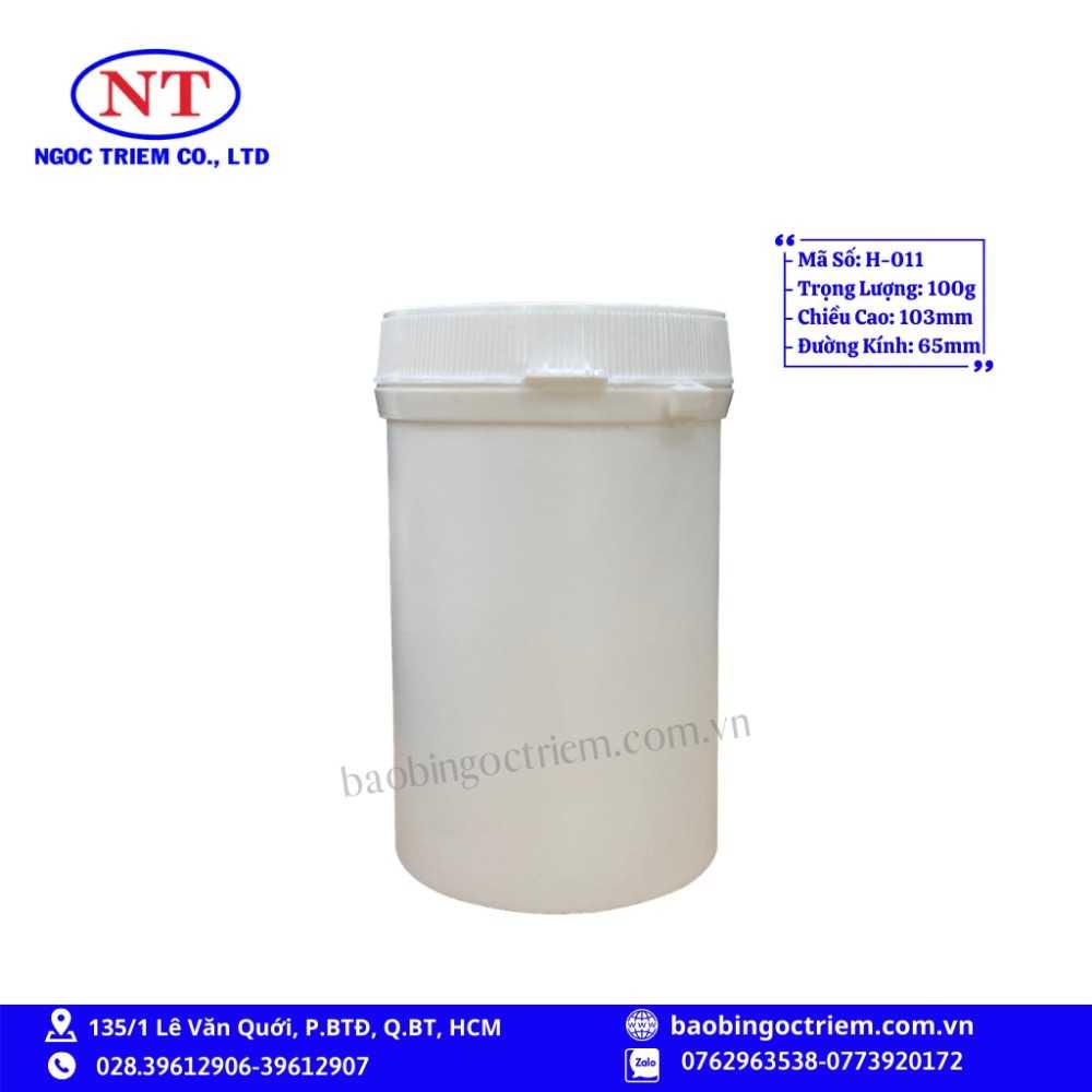 Hủ Nhựa HDPE 100g H-011 - BAO BÌ NGỌC TRIÊM0