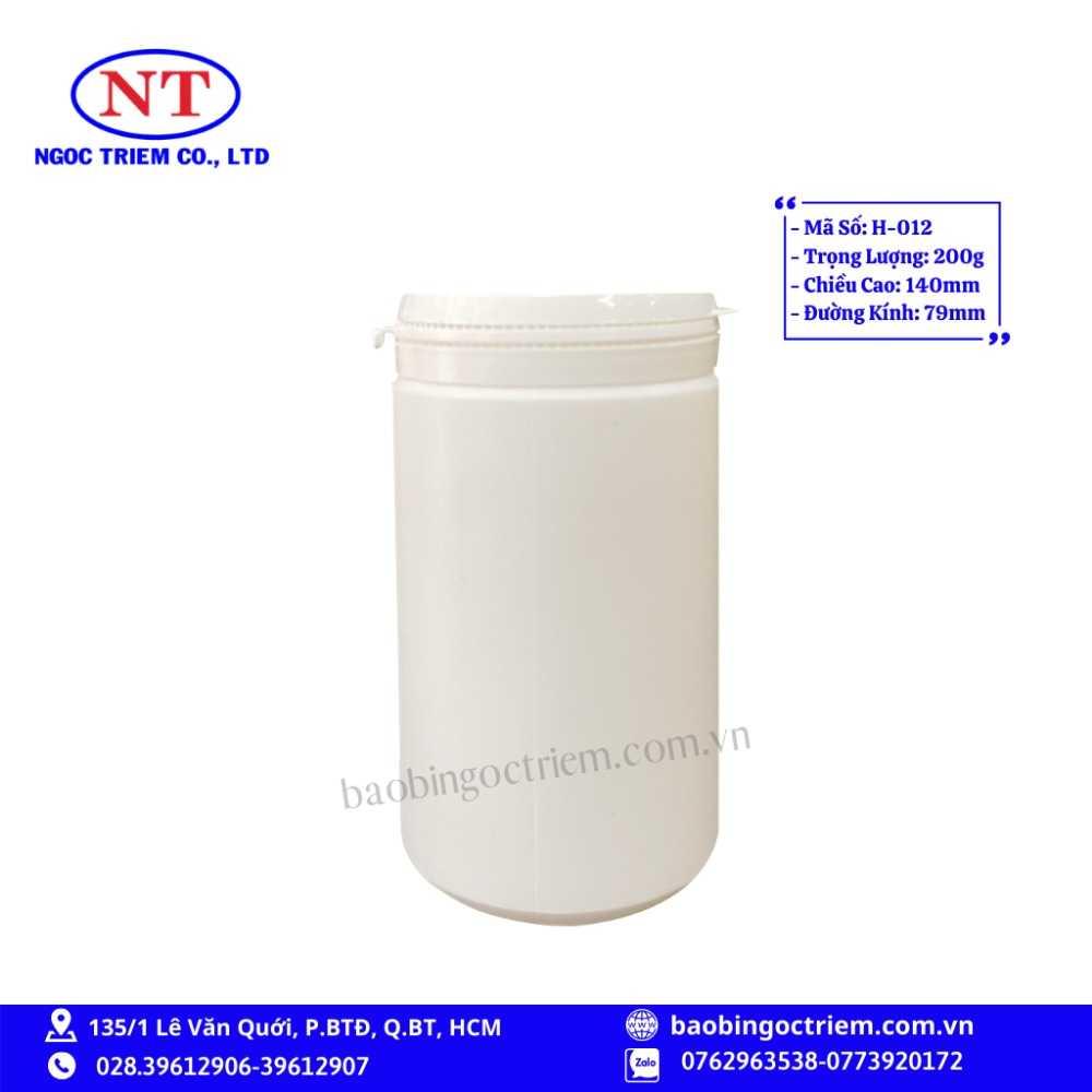 Hủ Nhựa HDPE 200g H-012 - BAO BÌ NGỌC TRIÊM0