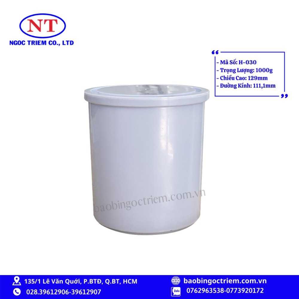 Hủ Nhựa HDPE 1000g H-030 - BAO BÌ NGỌC TRIÊM0