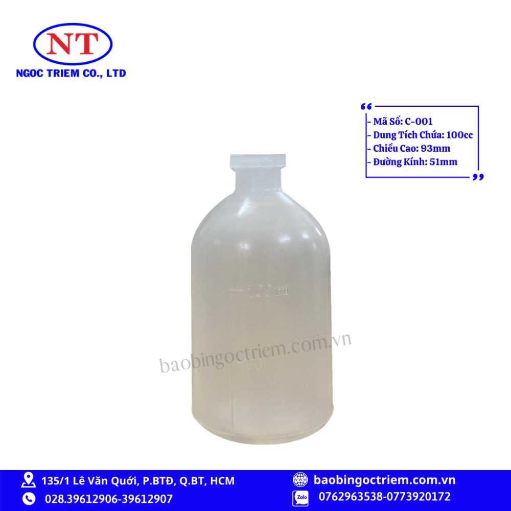 Chai Nhựa HDPE 100cc C-001 - BAO BÌ NGỌC TRIÊM0