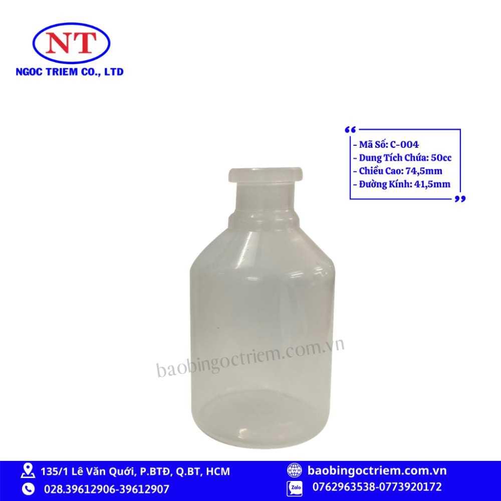 Chai Nhựa HDPE 50cc C-004 - BAO BÌ NGỌC TRIÊM0