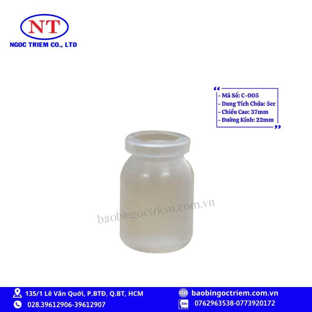 Chai Nhựa HDPE 5cc C-005 - BAO BÌ NGỌC TRIÊM0