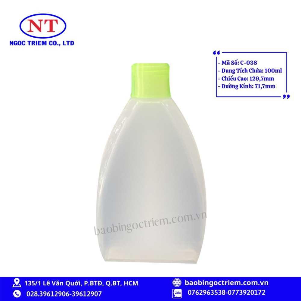 Chai Nhựa HDPE 100ml C-038 - BAO BÌ NGỌC TRIÊM0