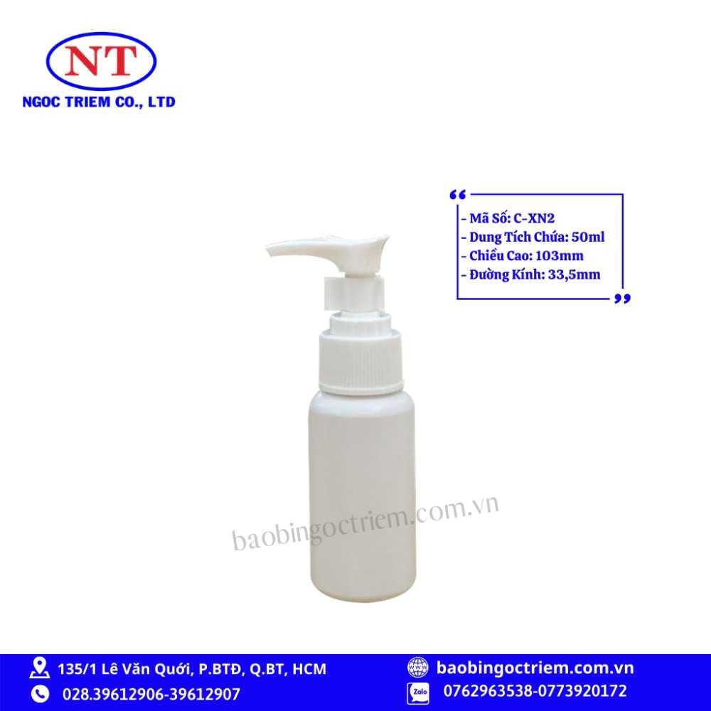 Chai Nhựa HDPE 50ml C-XN2 - BAO BÌ NGỌC TRIÊM0