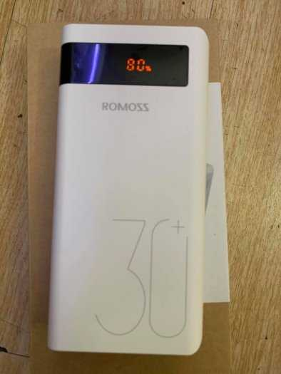 Pin Phòng Romoss Sense 8P+ dung lượng lớn 30000 MAH sạc nhanh 3.0 Có LCD6