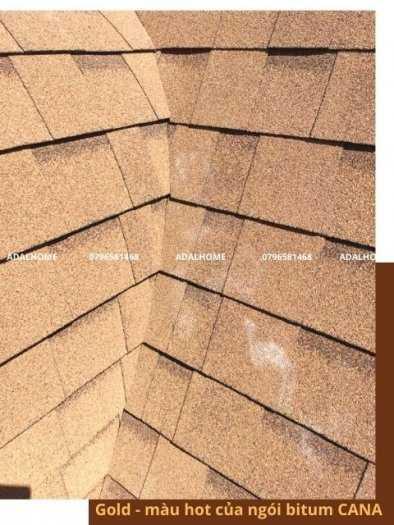 Tấm lợp bitum cana đa tầng gold - gam màu mới và được ứng dụng rộng rãi trong kiến trúc1