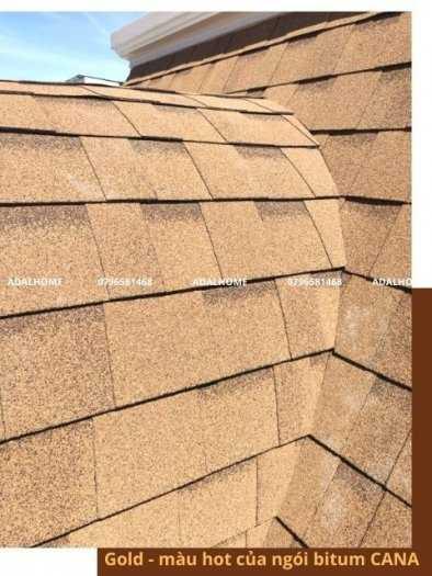 Tấm lợp bitum cana đa tầng gold - gam màu mới và được ứng dụng rộng rãi trong kiến trúc0
