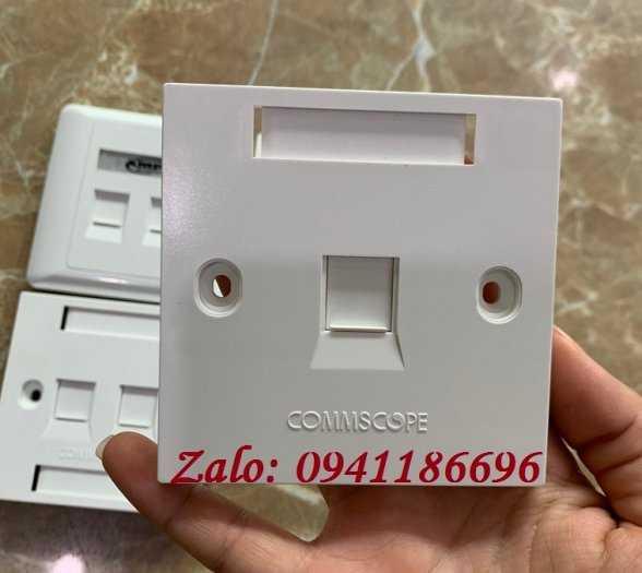 Mặt 1 Port Wallplate AMP Face Plate 1859049-1 mặt nạ vuông3