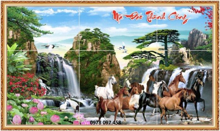 Tranh ngựa 3D - tranh gạch0