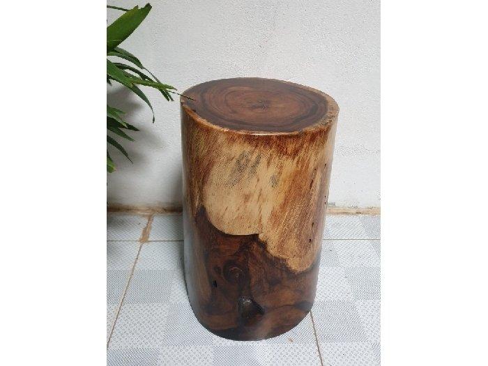 Đôn gỗ me tây tự nhiên a6 (d29cm x h45cm