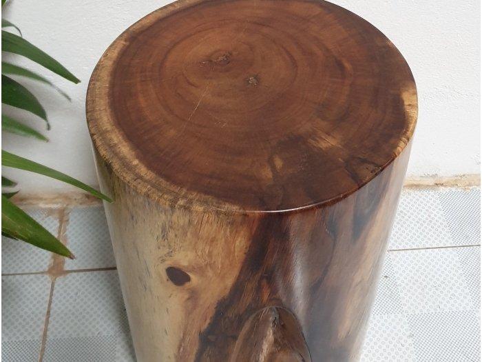Đôn gỗ me tây tự nhiên a7 (d30cm x h50cm0