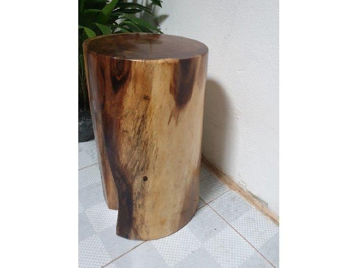 Đôn gỗ me tây tự nhiên a7 (d30cm x h50cm1