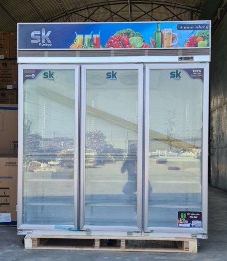 Tủ Mát SK Sumikura SKSC-1600FC3 1500 Lít Dàn Đồng 3 Cửa Không Đóng Tuyết