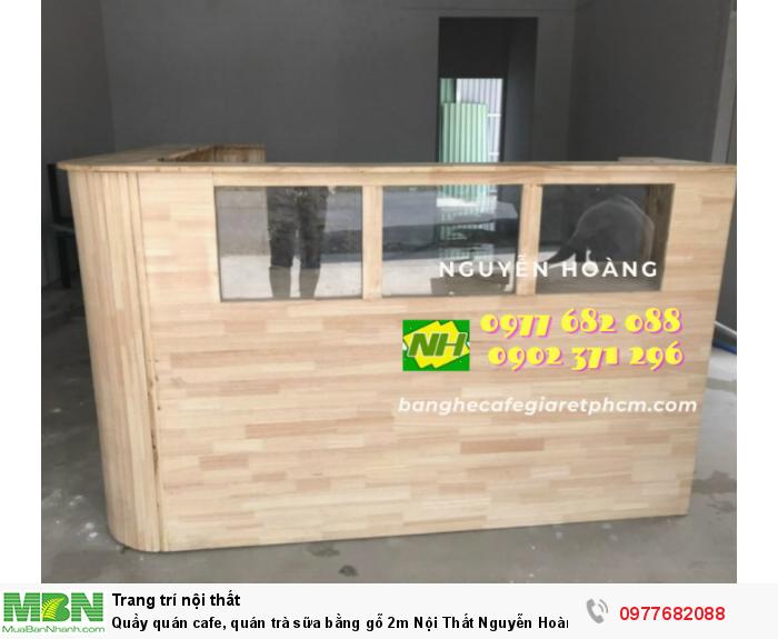 Quầy quán cafe, quán trà sữa bằng gỗ 2m Nội Thất Nguyễn Hoàng Sài Gòn 0
