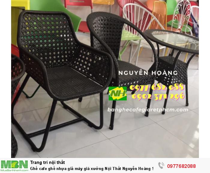 Ghế cafe ghế nhựa giả mây giá xưởng Nội Thất Nguyễn Hoàng Sài Gòn 0
