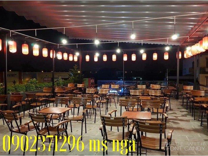 Ghế gỗ sắt cafe cực tốt Nội Thất Nguyễn Hoàng Sài Gòn0
