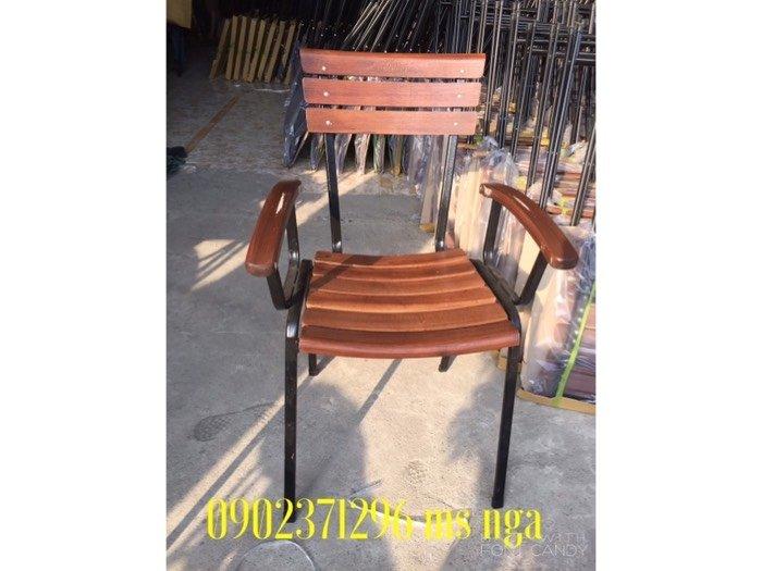 Ghế gỗ sắt cafe cực tốt Nội Thất Nguyễn Hoàng Sài Gòn2