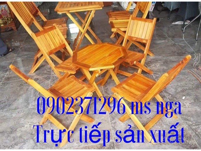 Thanh lý bộ bàn ghế xếp gỗ mới 99%  Nội Thất Nguyễn Hoàng Sài Gòn0