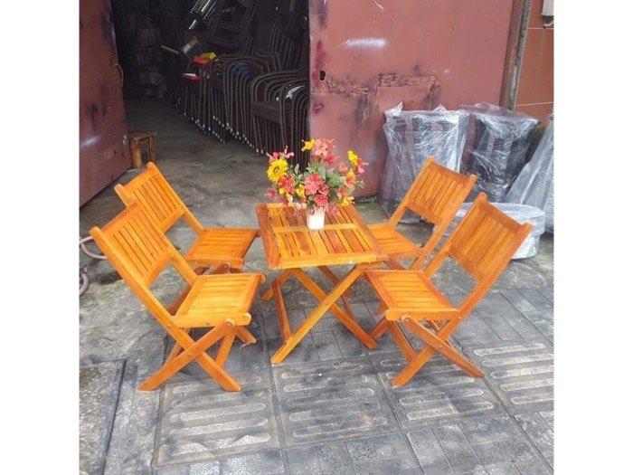 Thanh lý bộ bàn ghế xếp gỗ mới 99%  Nội Thất Nguyễn Hoàng Sài Gòn1