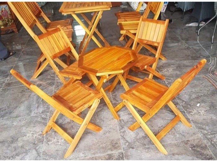 Thanh lý bộ bàn ghế xếp gỗ mới 99%  Nội Thất Nguyễn Hoàng Sài Gòn2